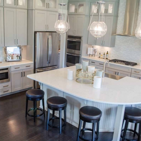 Paddlers Cove Kitchen Countertop and flooring